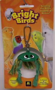 Image of Multi Pet Bright Birds Crab 6in Small Bird Toy (300-13027)