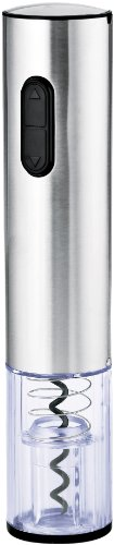 Wine Enthusiast Electric Blue Push-Button Corkscrew, Stainless Steel (Pampered Chef Wine Opener compare prices)