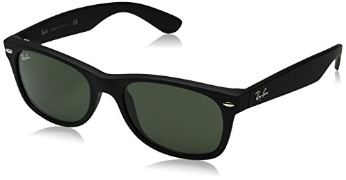 Ray-Ban - New Wayfarer, Occhiali da sole, unisex, Nero, 52 mm