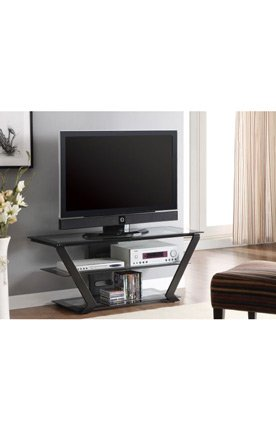 Image of Contemporary TV Stand with Angular Legs (B009F952NC)
