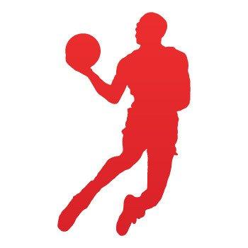 Basketball Player Jump dunk... Red (09 X 5.4 inch) ZEZZ9