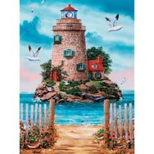 Cheap Herrschners Lighthouse Jigsaw Puzzle (B005EVYQE6)