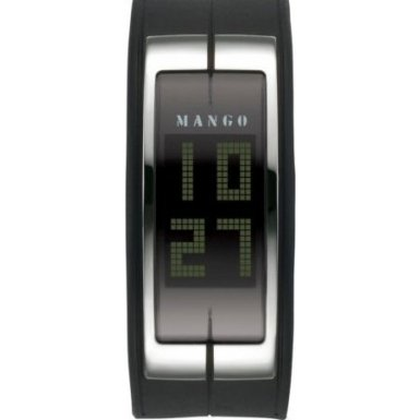 Mango Black Reggie LCD Ladies Bracelet Watch - QM234.91.01