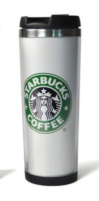 New Fashion Double Wall Coffee Mug Tumbler Stainless Steel Travel Cups (White)