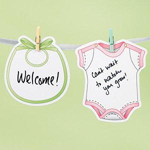 Clothesline Signature Garland Kit (Baby Shower Activity)