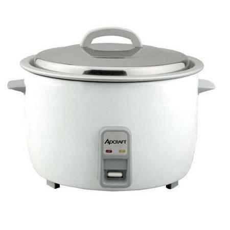 AdCraft White 50 Cup 208V/240V Economy Rice Cooker RC-E50