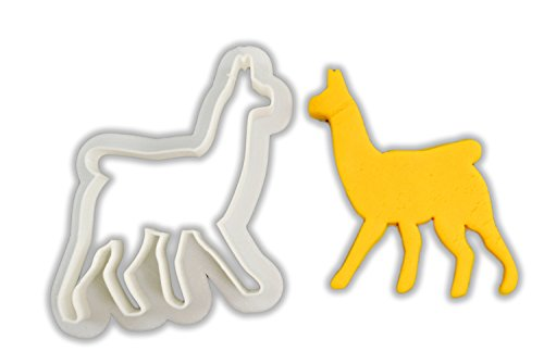 This three-inch cookie cutter allows you to make cookies that look like either llamas or alpacas and to decorate with different colors of icing to make each unique.