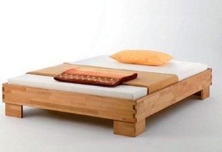 Massivholz Bett CASTELLO / Buche geölt / 160 x 200
