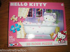 Hello Kitty 3-D Floor Puzzle - 1