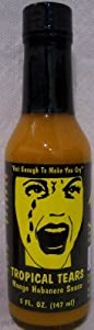 Tropical Tears Mango Ginger Habanero Hot Sauce- 5 oz. from SGT Peppers