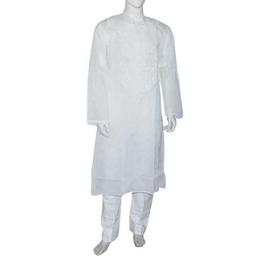 Indian Clothing Cotton Embroidered Kurta Pajama Size L Chest :44