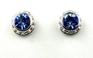 Traveller drachensilber orecchino orecchini di cristallo con Swarovski Elements - rodiato - azzurro