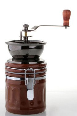JustNile Manual Coffee Grinder - Brown Ceramic Hand-Crank