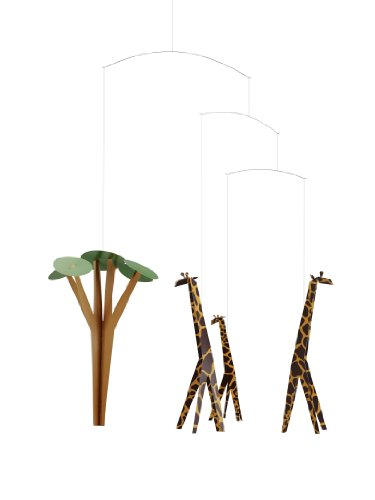 Giraffes On The Savannah Mobile by Flensted - 24-Inches - High Quality Cardboard - Handmade in Denmark