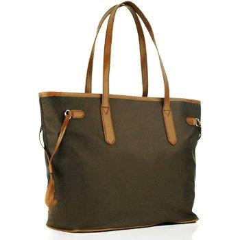 KF Baby LUJO Diaper Bag, Charcoal Brown