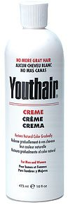 Youthair Creme For Men And Women Natural Color Gradually 16oz473ml from Youthair