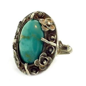 Vintage Silver &amp; Turquoise Ring