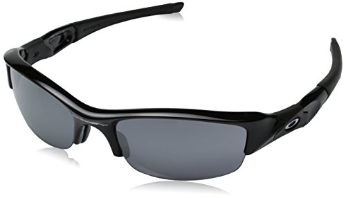 오클리 선글라스 Oakley Mens 플락 자켓 Iridium Sunglasses,Jet Black