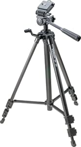 Velbon DF-40 Deluxe Lightweight Photo/Video Tripod with 3-Way Panhead and Quick Release Shoe