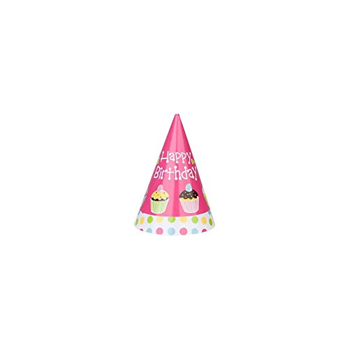 Cupcake Birthday Party Hats (8-pack)