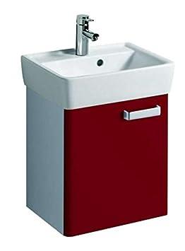 Keramag Renova No, 1 Plan 41 x 46.3 cm x34cm Washbasin Under Cabinet White/Rubin Glossy, 8793540