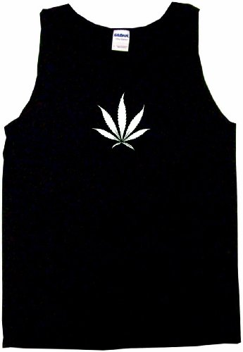 Mi Ganja, Su Ganja Marijuana Leaf Logo Men's Tee Shirt XL-Black TANK TOP