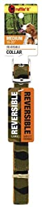 Ruffin' It Reversible Collar, Medium, Camo/Safety Orange