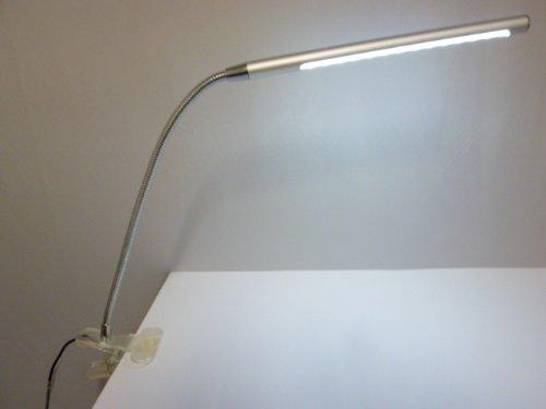 Led klemmleuchte tony silber mit flexarm 4 stufen - Bildbeleuchtung led ...