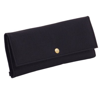 Wolf Designs Brighton Jewelry Roll, Black