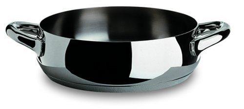 Alessi - SG102/28 - Mami Casseruola bassa a due manici in acciaio inossidabile 18/10 lucido.