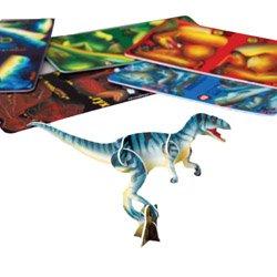 Lot Of 12 Assorted 3D Mini Dinosaur Plastic Puzzles