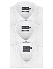 3 Pack 2in Shorter Easy Care Classic Collar Shirts