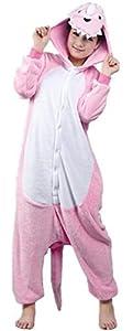 Rnmomo Unisex-adult Kigurumi Onesie Pink Dinasour Pajamas