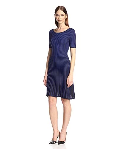 Marc New York Women's Plaited Rib Fit-and-Flare Dress