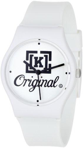 KR3W Men's K1341-WTOG Freshman White K OG Watch