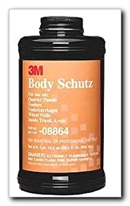 3M 08864 Body Schutz Rubberized Coating Black - 1 Quart by 3M