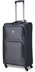 """Aerolite Super Lightweight 4 Wheel Spinner Luggage Suitcase Travel Trolley Cases. 21"""" Cabin Hand Luggage Bags, fits 55x40x20cm Easyjet/Ryanair and 26"""" and 29"""" Medium & Large Suitcases Sets."""