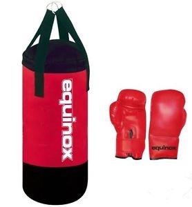 Equinox - Set boxe junior PRO sacco boxe kg 6 con guanti 6 oz.