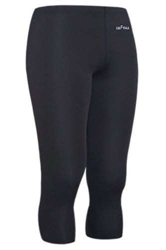 Emfraa Skin Tight 3/4 Length Compression Pants Running Base Layer Men Women S ~ 2XL