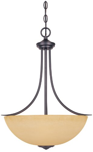 Designers Fountain 83331-ORB Madison Inverted Pendant, Oil Rubbed Bronze by Designers Fountain
