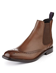 Sartorial Leather Brogue Boots