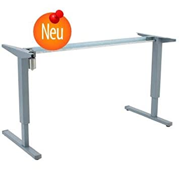 Electrically adjustable pedestal table lectern desk, gray 112cm
