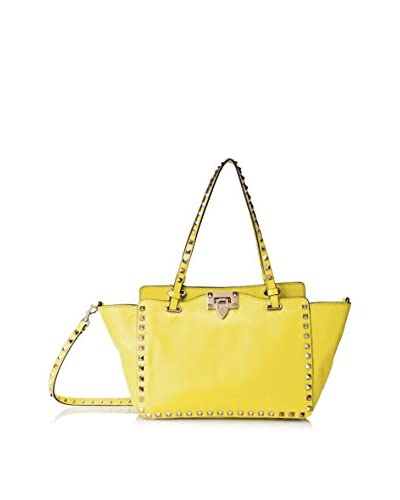 Valentino Women's Rockstud Small Shopper, Naples Yellow As You See