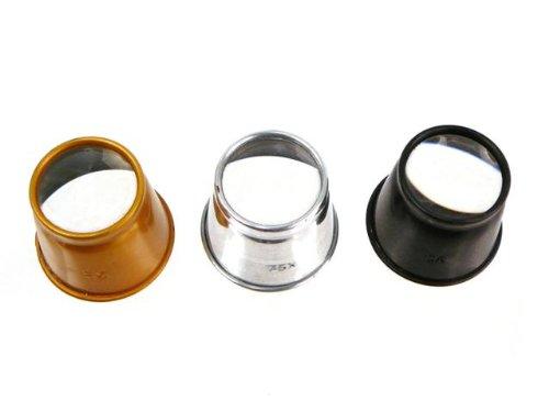 3-Piece Jeweler'S Eye Loupe Set - 5X, 7.5X & 10X