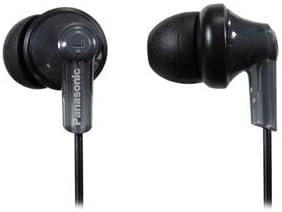 Panasonic RP-HJE120-K In-Ear Earbud Ergo-Fit Headphone (Black)