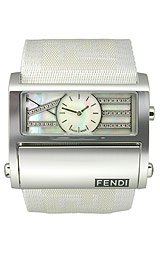 Fendi Zip Code All White Strap Diamond Dial Unisex Watch #F115144D