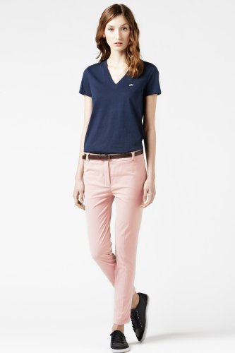 Brushed Stretch Gabardine Cropped Chino