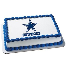 Dallas Cowboys Licensed Edible Cake Topper #4491