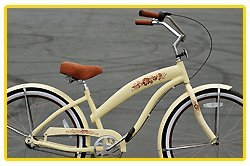 Anti-Rust Aluminum Alloy Anti-Rust Frame, Fito Modena Alloy 3-speed - Vanilla/Brown, women's Beach Cruiser Bike Bicycle, Shimano Nexus Equipped