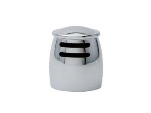 Franke Gcfh280 Farmhouse Rounded Air Gap Cover, Satin Nickel front-287501